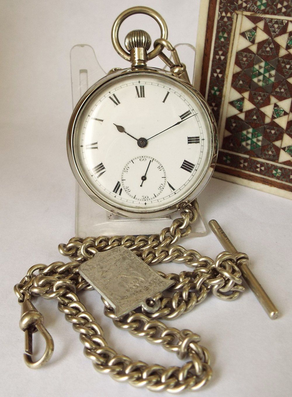 a33b13c3bdc73b Antiques Atlas - Antique Baume & Co Pocket Watch & Chain ...
