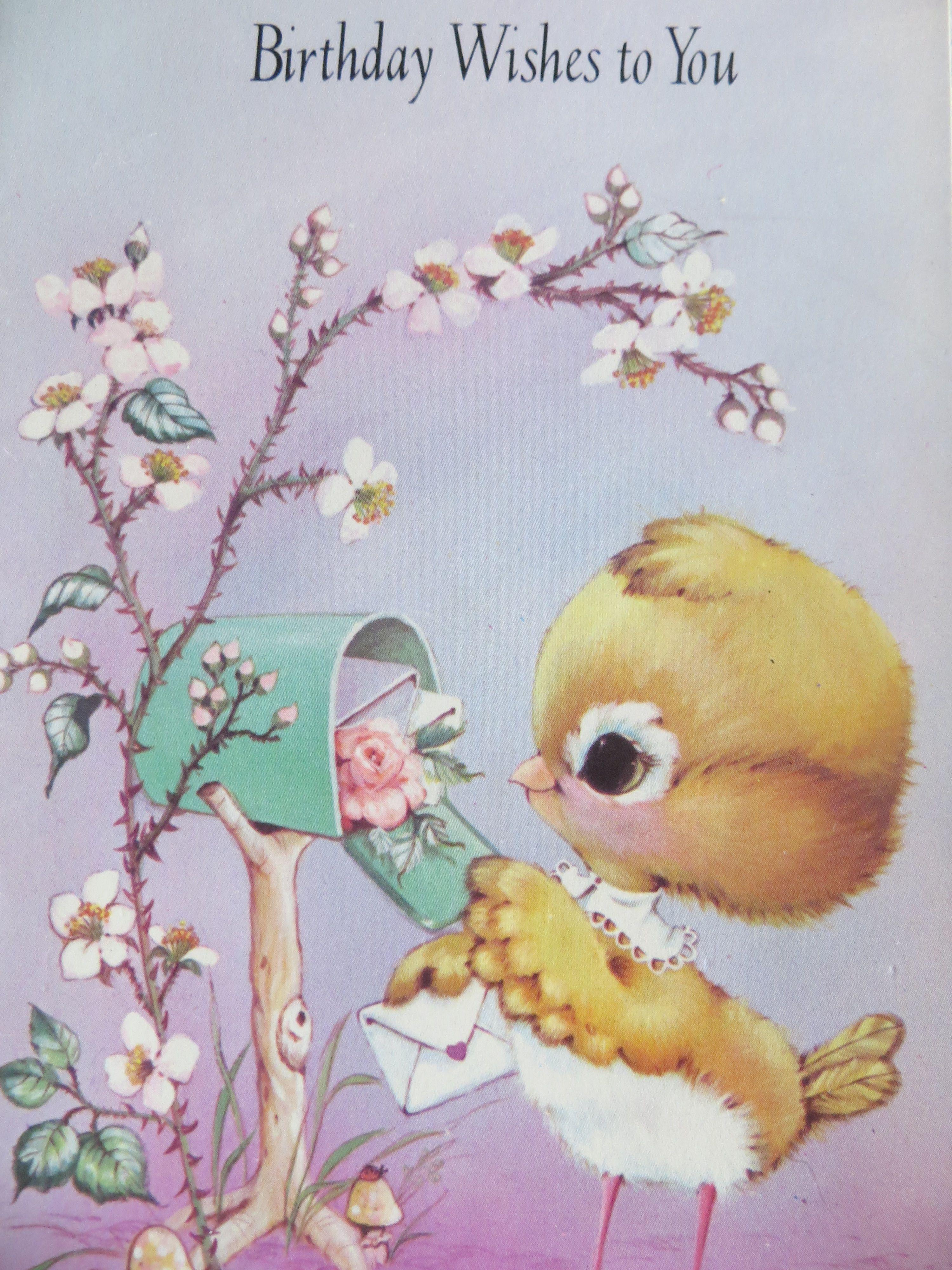 1980s Birthday Card Featuring Bird Birthday Pinterest Vintage
