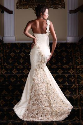 Styles And Textures Of African American Wedding Gowns