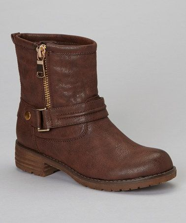 Another great find on #zulily! Brown Zip-Up Jayda Boot by PINKY FOOTWEAR #zulilyfinds