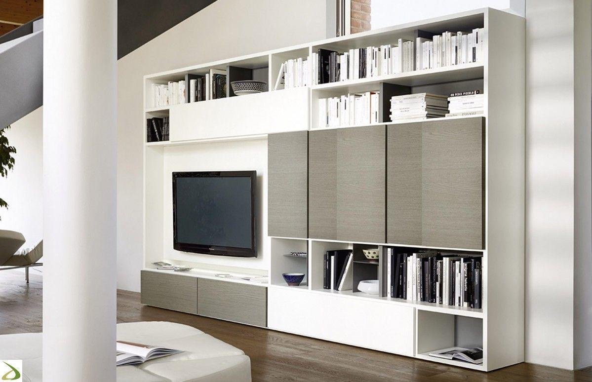 Mobile libreria moderna in legno da soggiorno | Soggiorni | Pinterest
