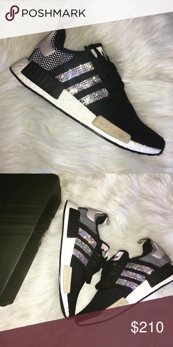 Blinged Adidas NMD Women s in Black I custom make bling Adidas NMD sneakers d724d31c3d5e