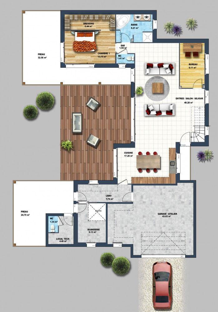 Maison traditionnelle St Jean de Monts 85 (Rdc plan 2) Maison