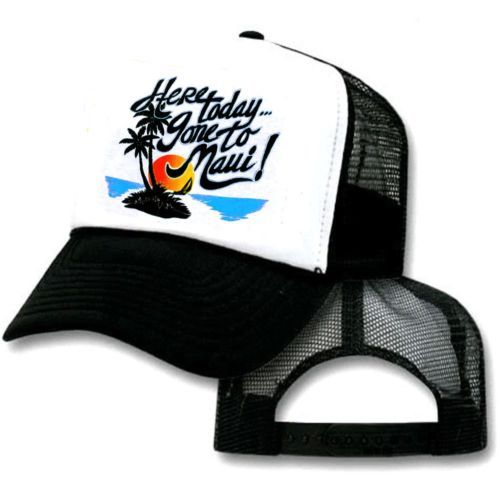 4f6b76e90d2ee Toddler Kid s Here Today Gone to Maui Hawaii Mesh Trucker Hat Cap Snapback