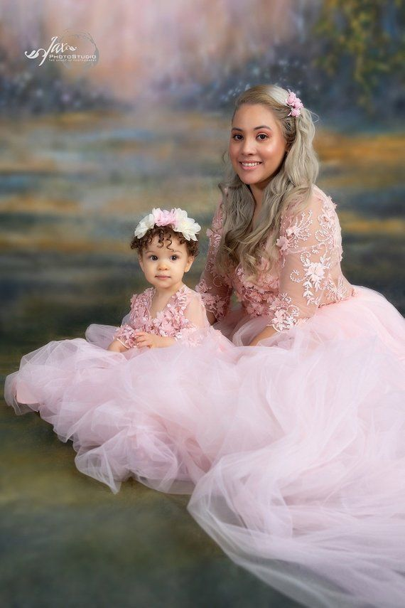 504b8d40d9e9b Mother Daughter matching dress, Mommy and me outfits, Light pink dress, Mother  daughter dress, Phot