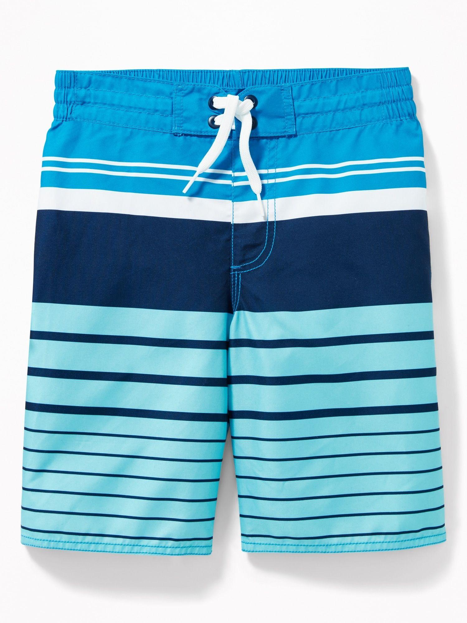 f3faf33484 Patterned Board Shorts for Boys | SWIM | Boys swimwear, Shorts, Blue ...