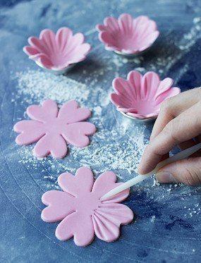 Pin By Kasia Kolo On Fondan Cake Fondant Flower Tutorial Sugar Paste Flowers Easy Cake Decorating