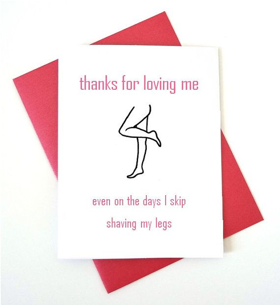 Funny Love Card Card For Boyfriend Card For Husband Thanks For