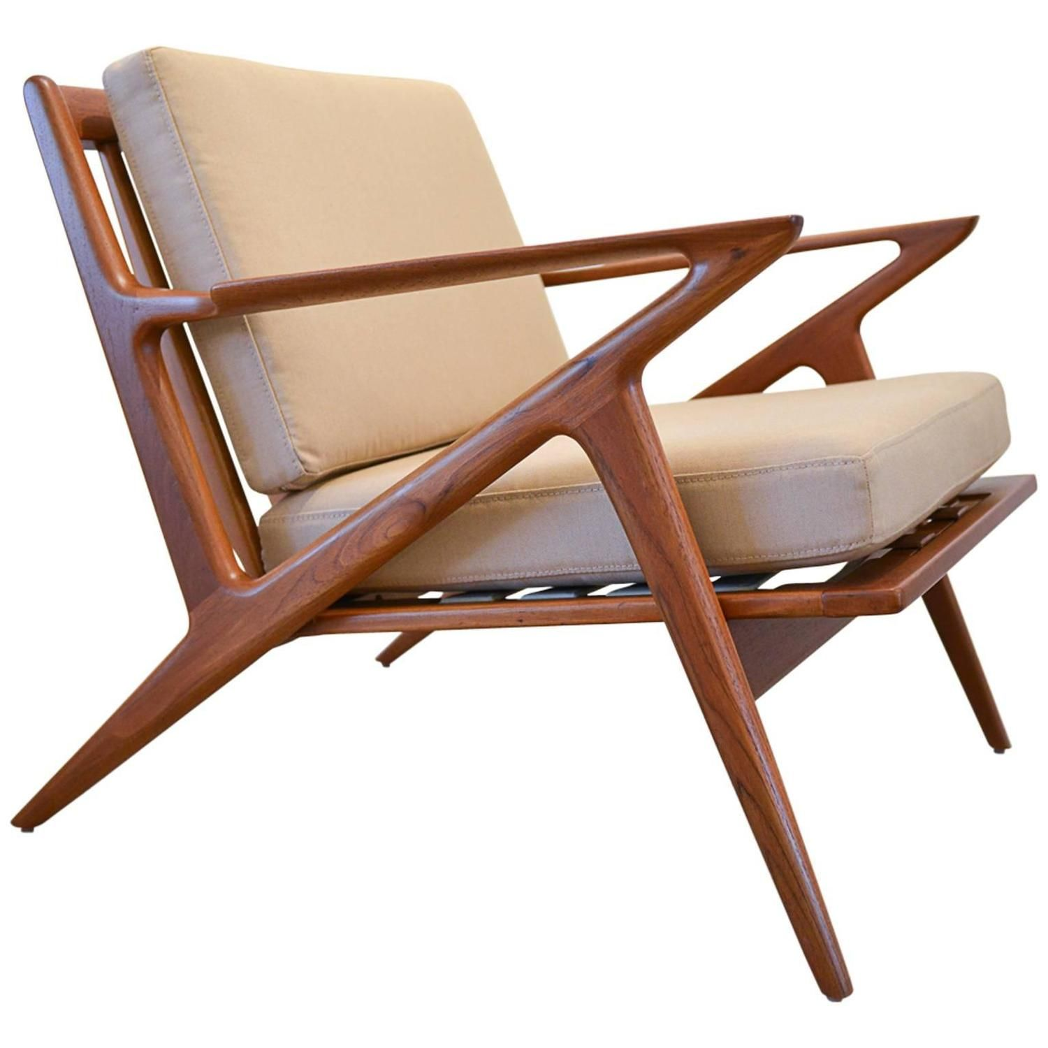Z Lounge Chair by Poul Jensen for Selig  Wood chair design, Chair