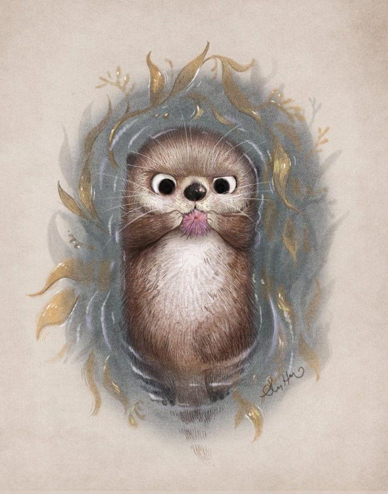 Открытка открытка, животные рисунок прикольный