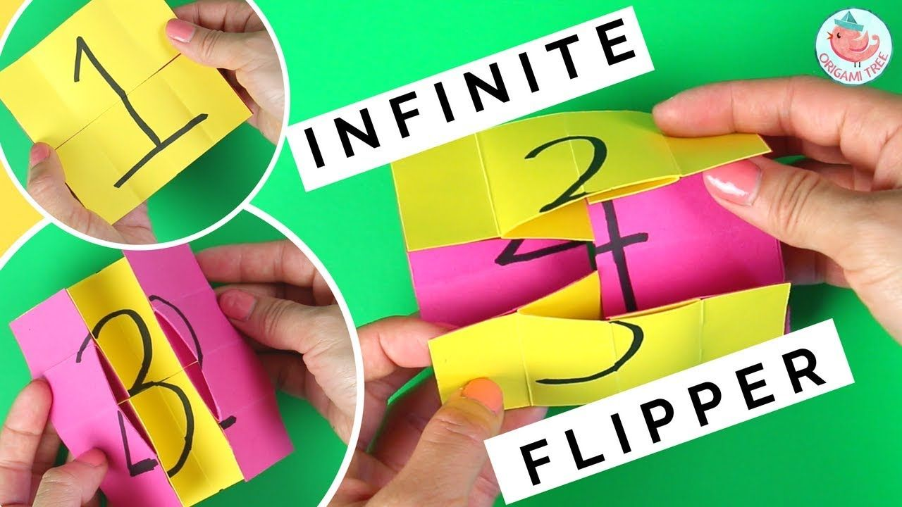 Infinite Flipper How To Fold An Endless Flipping Card Paper