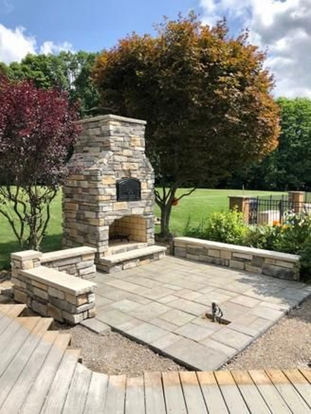 40 Admirable Outdoor Fireplace Designs Ideas To Beautify Your Backyard Trendehouse Outdoor Fireplace Designs Build Outdoor Fireplace Backyard Fireplace
