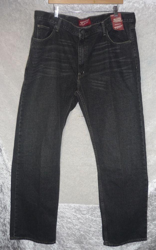 Arizona Jeans Relaxed fit Straight leg black stone denim men's size 42x32 NEW   19.99 http://www.ebay.com/itm/Arizona-Jeans-Relaxed-fit-Straight-leg-black-stone-denim-men-039-s-size-42x32-NEW-/231434652016?