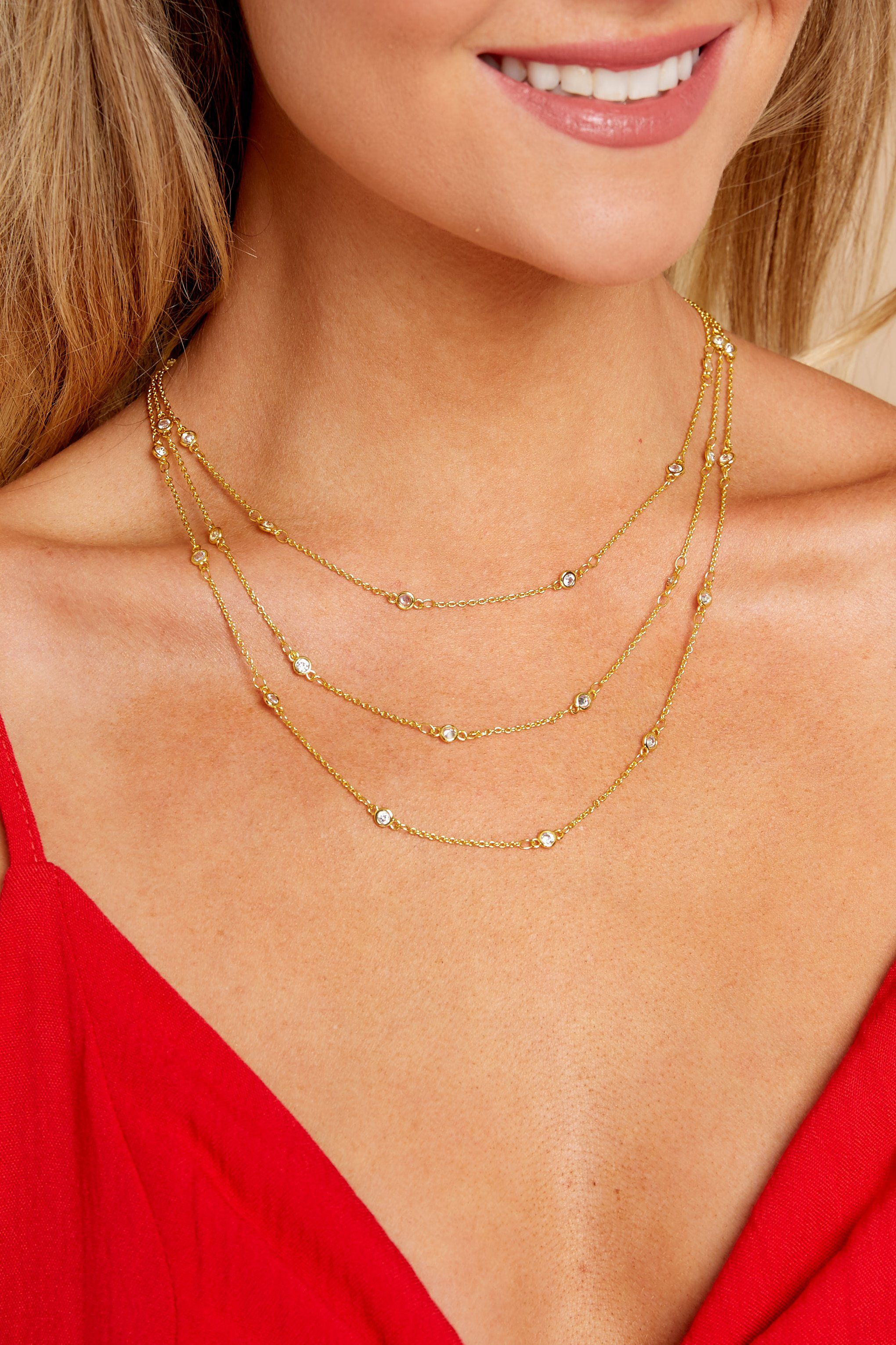 Raw & Rebellious Gold Layered Necklace - Trendy Layered Necklace