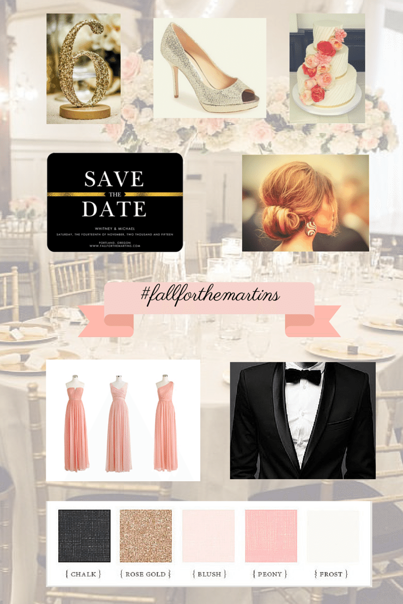 My blush and gold wedding (81 days to go!)