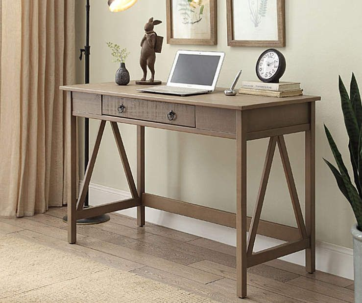 Rustic Pine Writing Desk At Big Lots Rustic Desk Home Office Furniture Grey Desk
