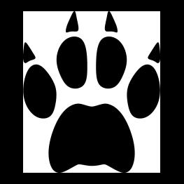 Bobcat Paw Print Silhouette Silhouette Clip Art Silhouette Free Animal Silhouette