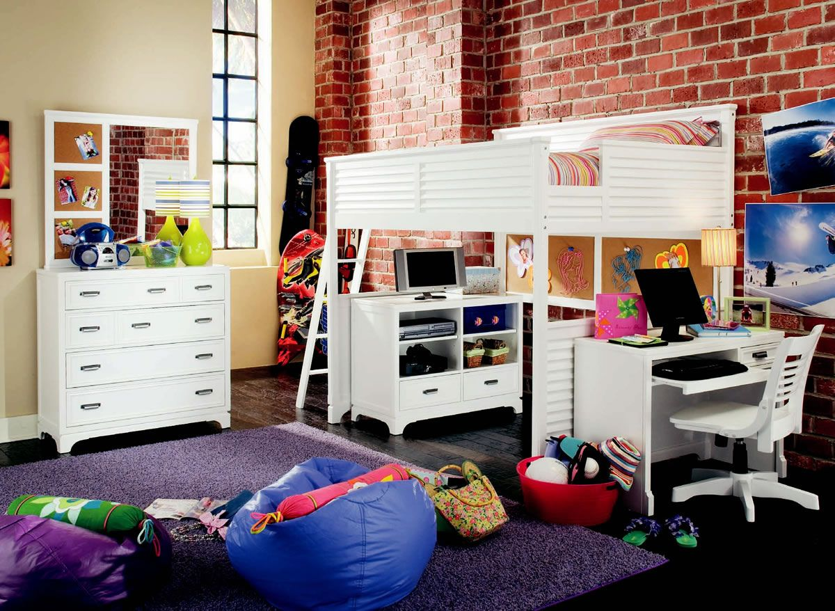 Loft bed desk ideas  Full Over Desk Bunk Bed  Interior House Paint Ideas Check more at
