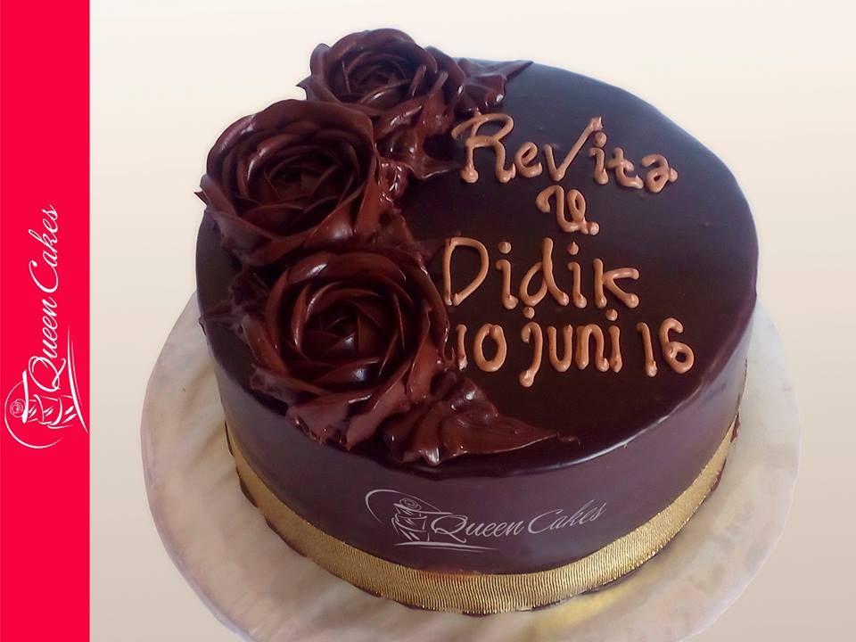 beauty roses chocolate cake cake spiku size 18 round decorative