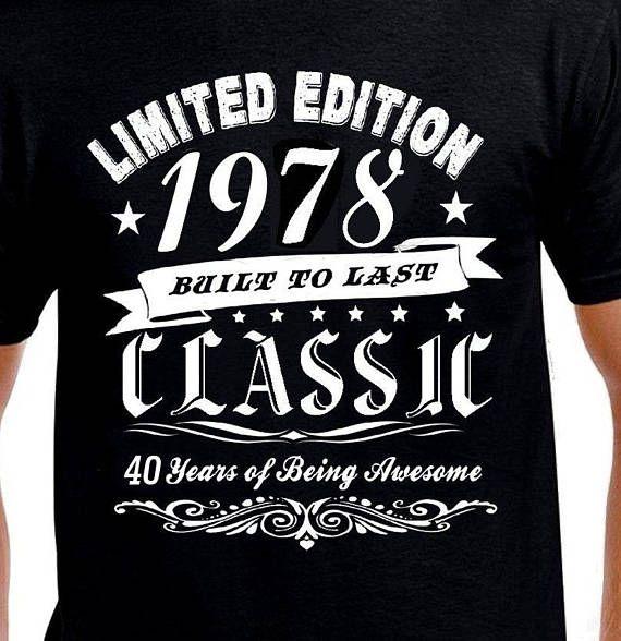 Grappig 40ste Verjaardag Cadeau T Shirt Voor Man Broer Vriend