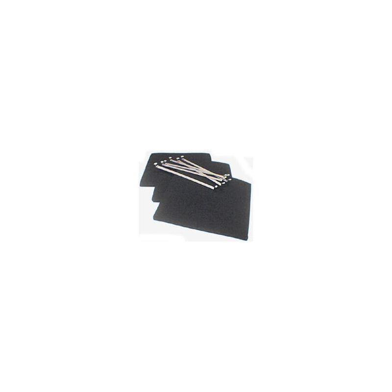Filtre Charbon Par 3 235x220mm Pour Hotte De Dietrich Table