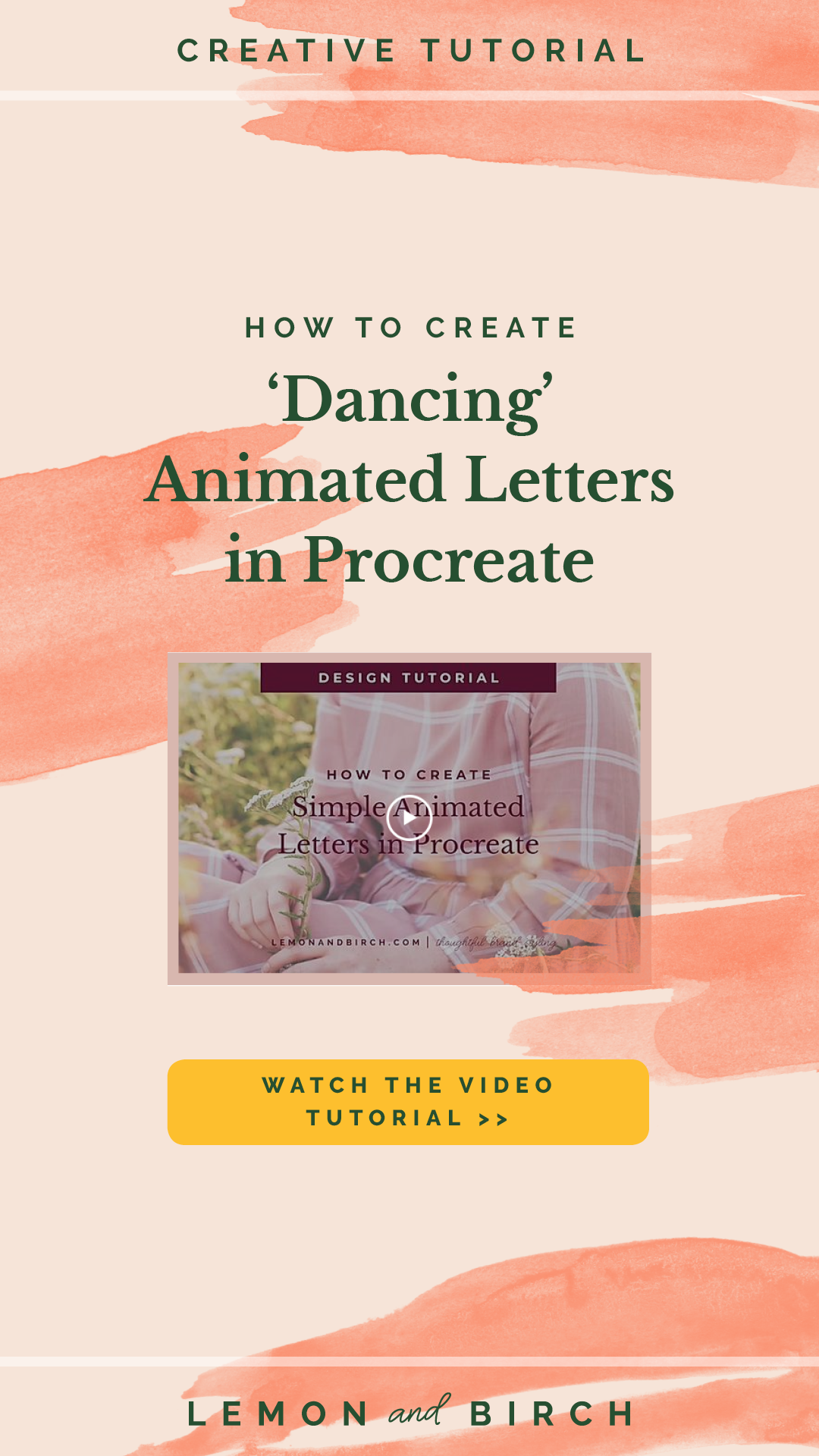 How to Create Dancing Animated Letters in Procreate