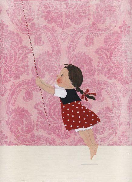 Liebevoll gestaltetes Bild für die Wand eines Kindes, eines Kindgebliebenen, eines Spielzeugladens oder für überall dort, wo man die Zeit findet, zu t