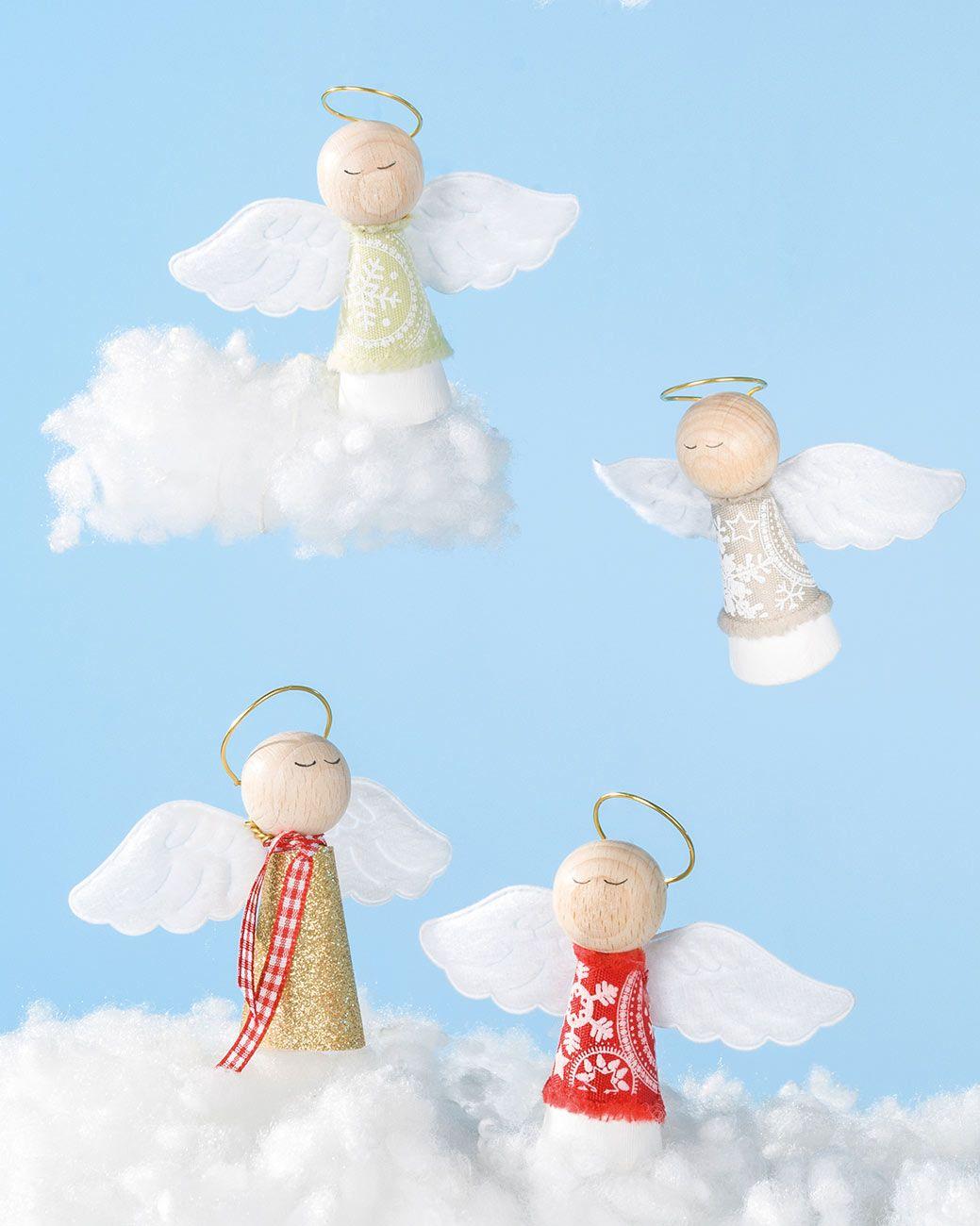 """Schlafende Engel (Idee mit Anleitung – Klick auf """"Besuchen""""!) - Ein friedlich schlummernder Engel vor jedem Teller sorgt für einen genußvollen Umgang mit allen Leckereien, die auf den Tisch kommen!"""