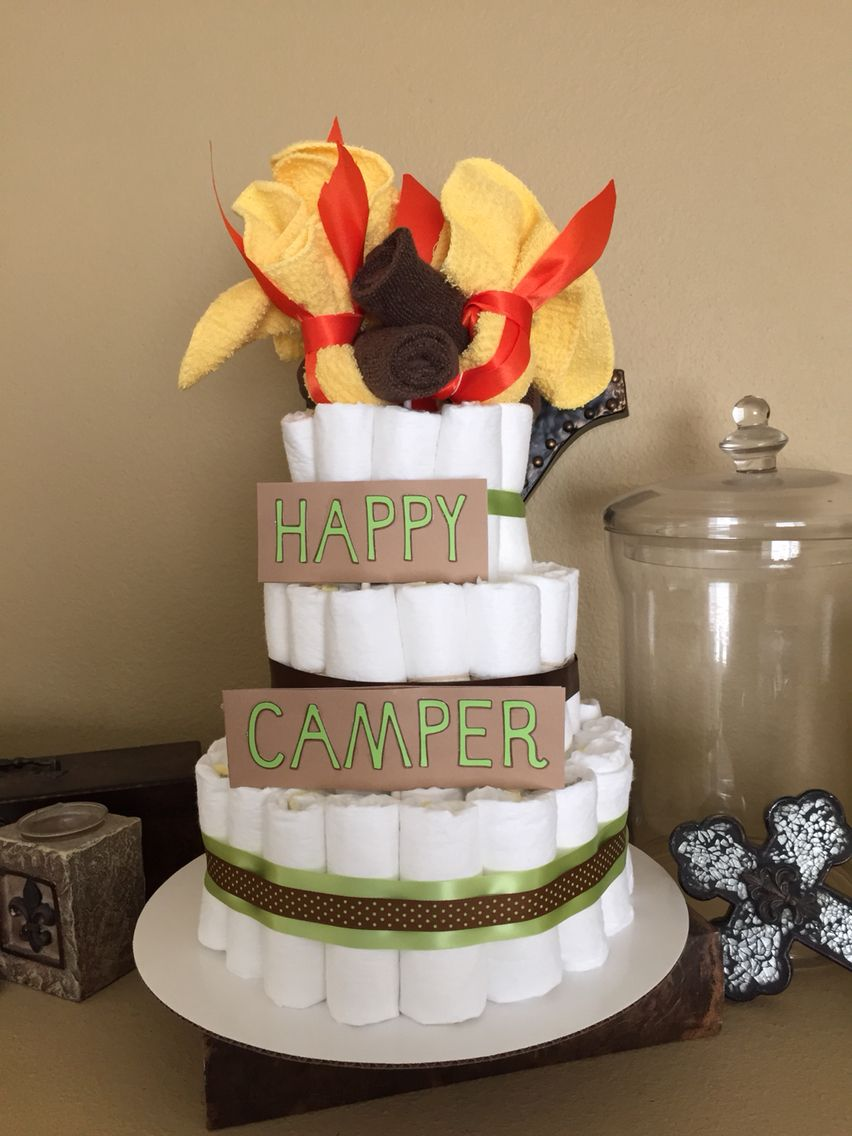 Camping Theme Diaper Cake Crafts Pinterest Camping Theme
