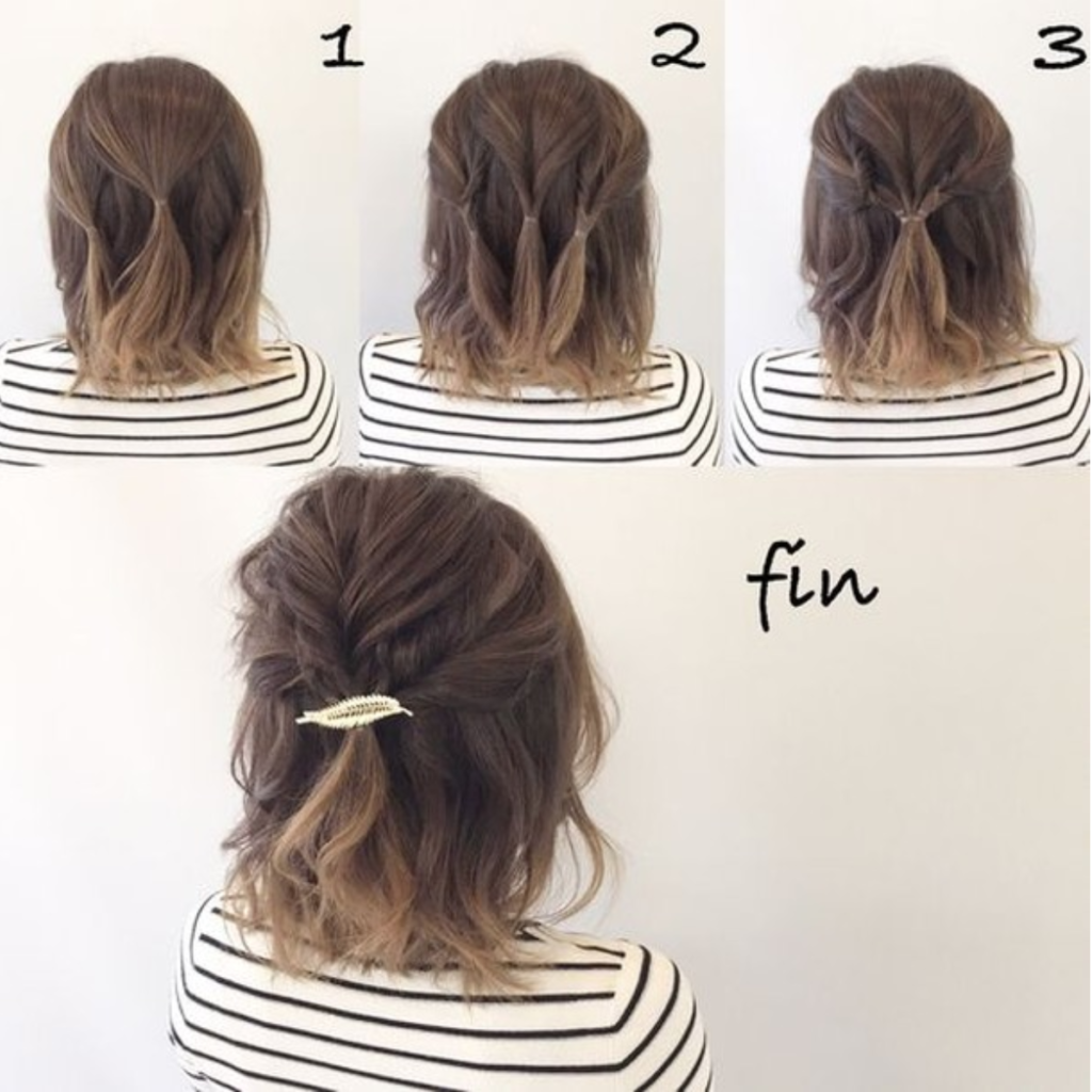 20 Simple Half Up Hairstyles That Only Take A Few Minutes Cuteeasyhairstyles Durate Di In 2020 Hair Styles Short Hair Updo Long Hair Styles