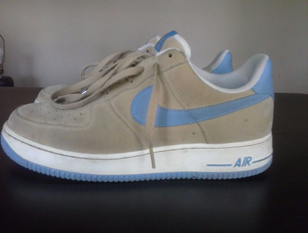 the best attitude f8de1 4a369 Nike Air Force 1 XXV Tan Light Blue  Nike  AthleticSneakers