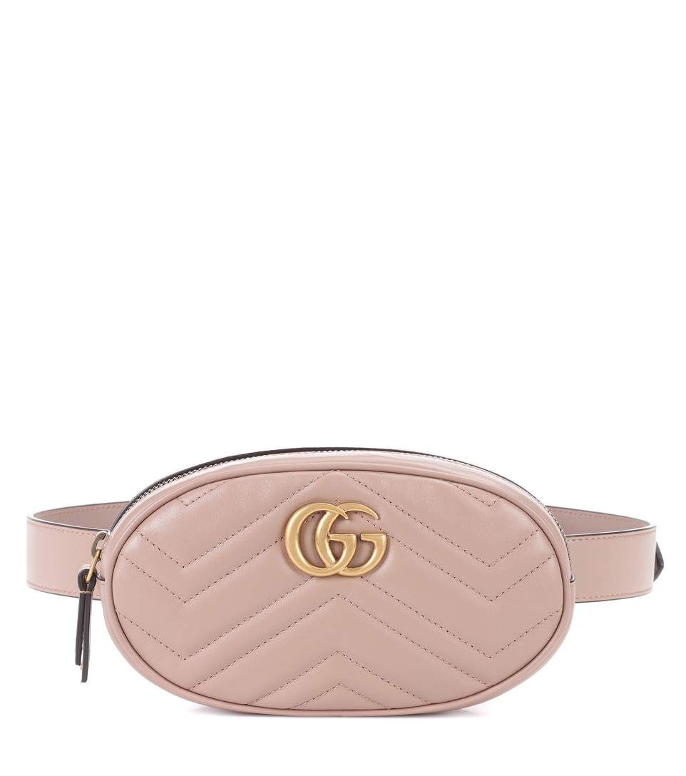 Gucci Gg Marmont Leather Belt Bag Gucci Bags Belt Bags Suede
