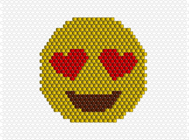 Emoji Coeur Sourire Perles Brick Stitch Loom Beading