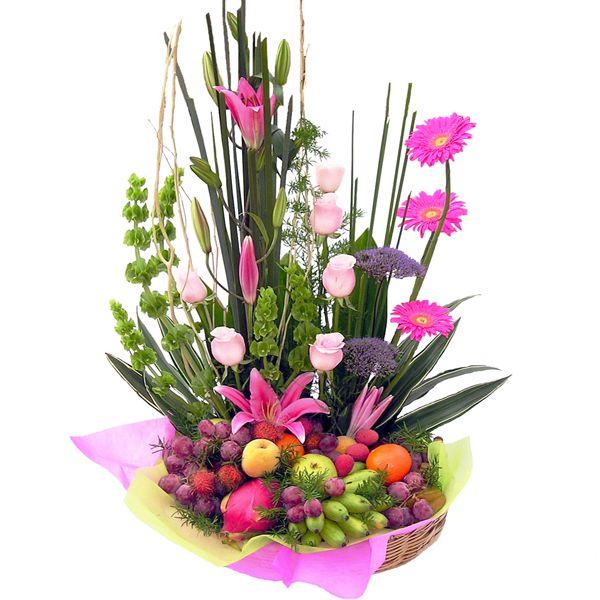 arreglos florales con frutas - Arreglos Florales Modernos