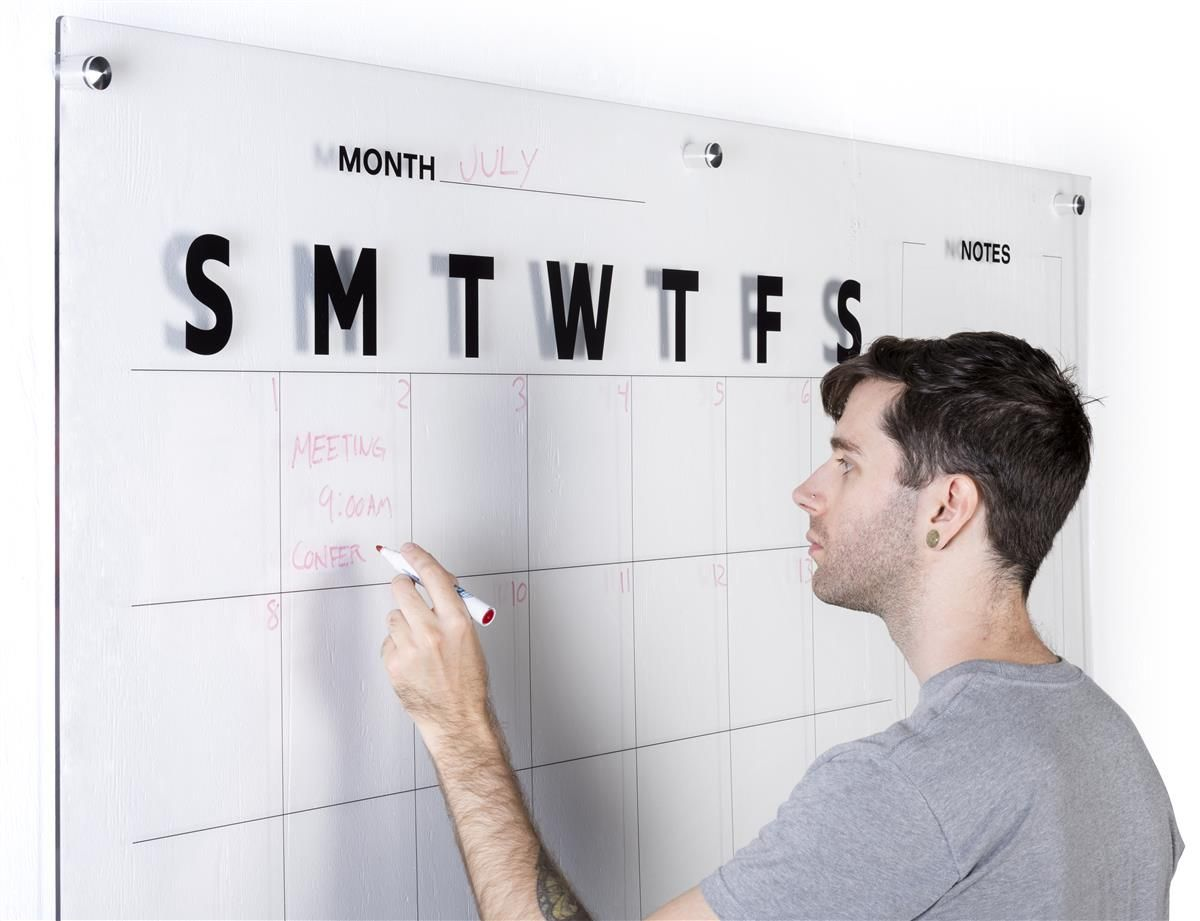 Wall Scrawl Clear Yearly Planner De Creativede Creative Wall Planner White Board Office Calendar