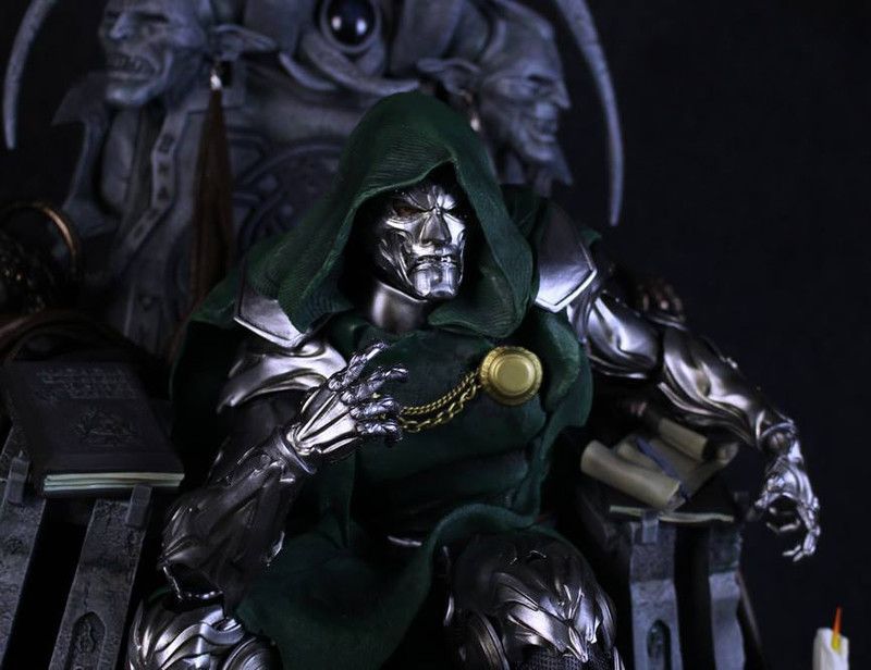 Artstation Doctor Doom On Throne 1 4 Statue Caleb Nefzen In 2020 Statue Doom Marvel