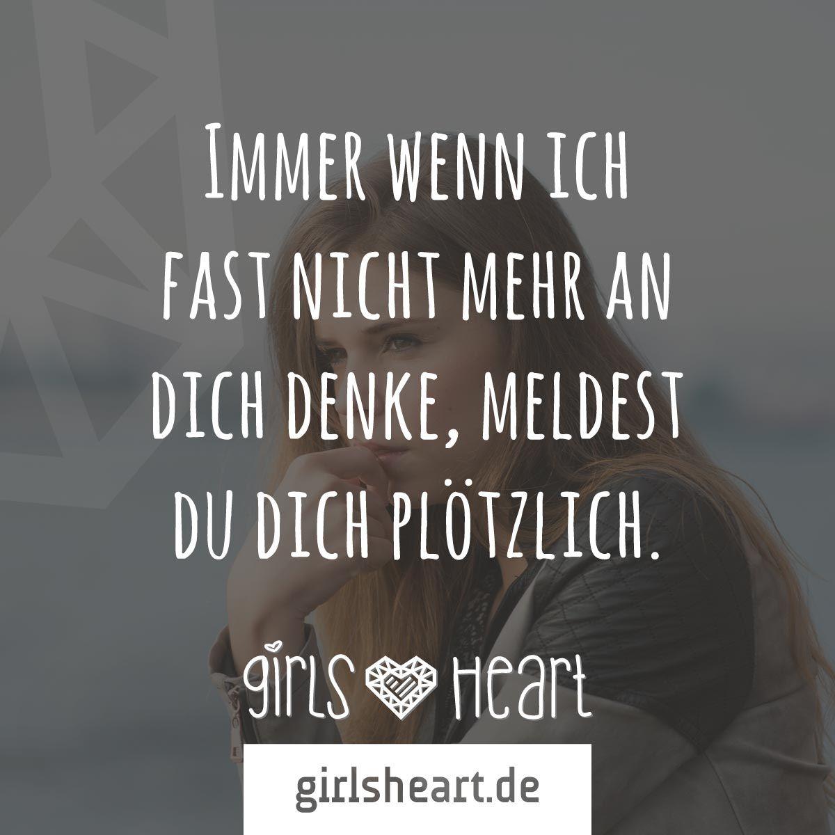 mehr sprüche auf: www.girlsheart.de #sehnsucht #denken #vermissen