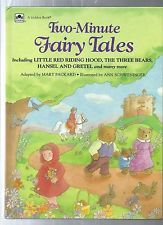 Two-Minute FAIRY TALES Mary Packard -Ann Schweninger hardcover