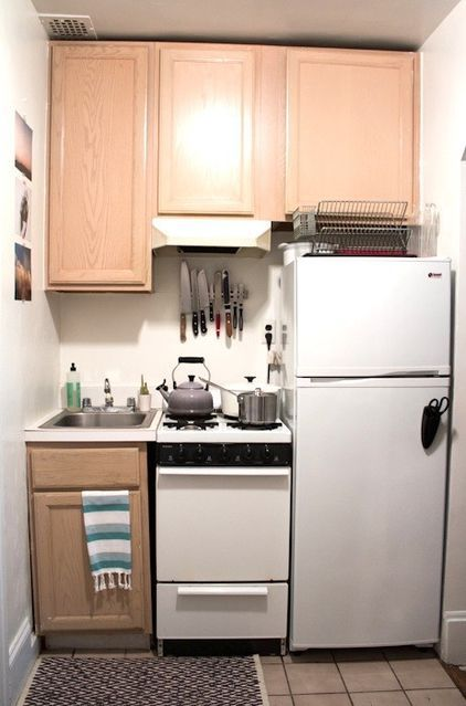 eclectic kitchen by Apt 2B Baking Co Great tiny kitchen I love this