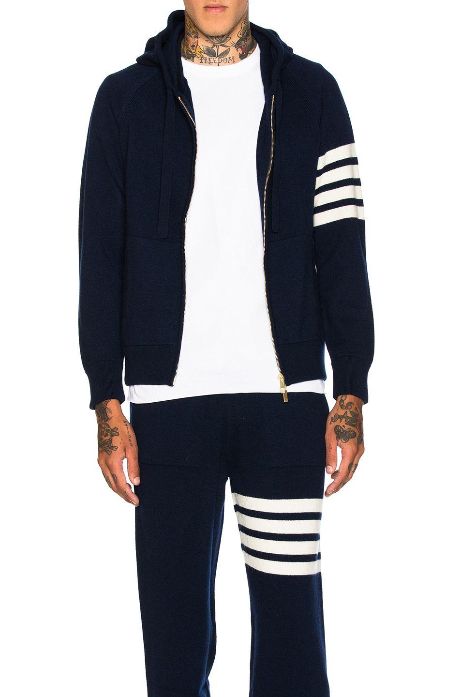 4d9e60f187c2 THOM BROWNE Cashmere 4 Bar Stripe Hoodie.  thombrowne  cloth ...