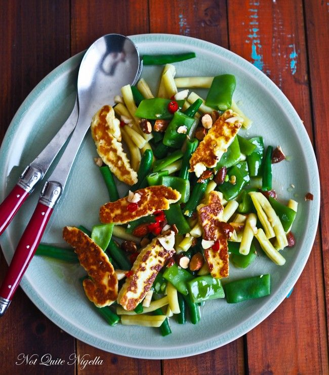 Green & Yellow Bean Halloumi Salad