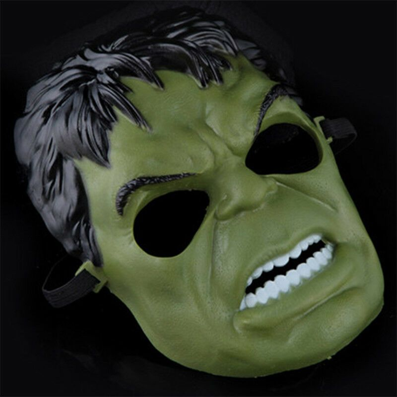 Incredible Hulk Green Giant Man Mask Halloween Cosplay Costume Accessory Toy