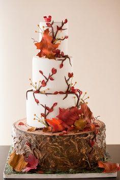 Fall Wedding Colors 2014   Autumn wedding cake
