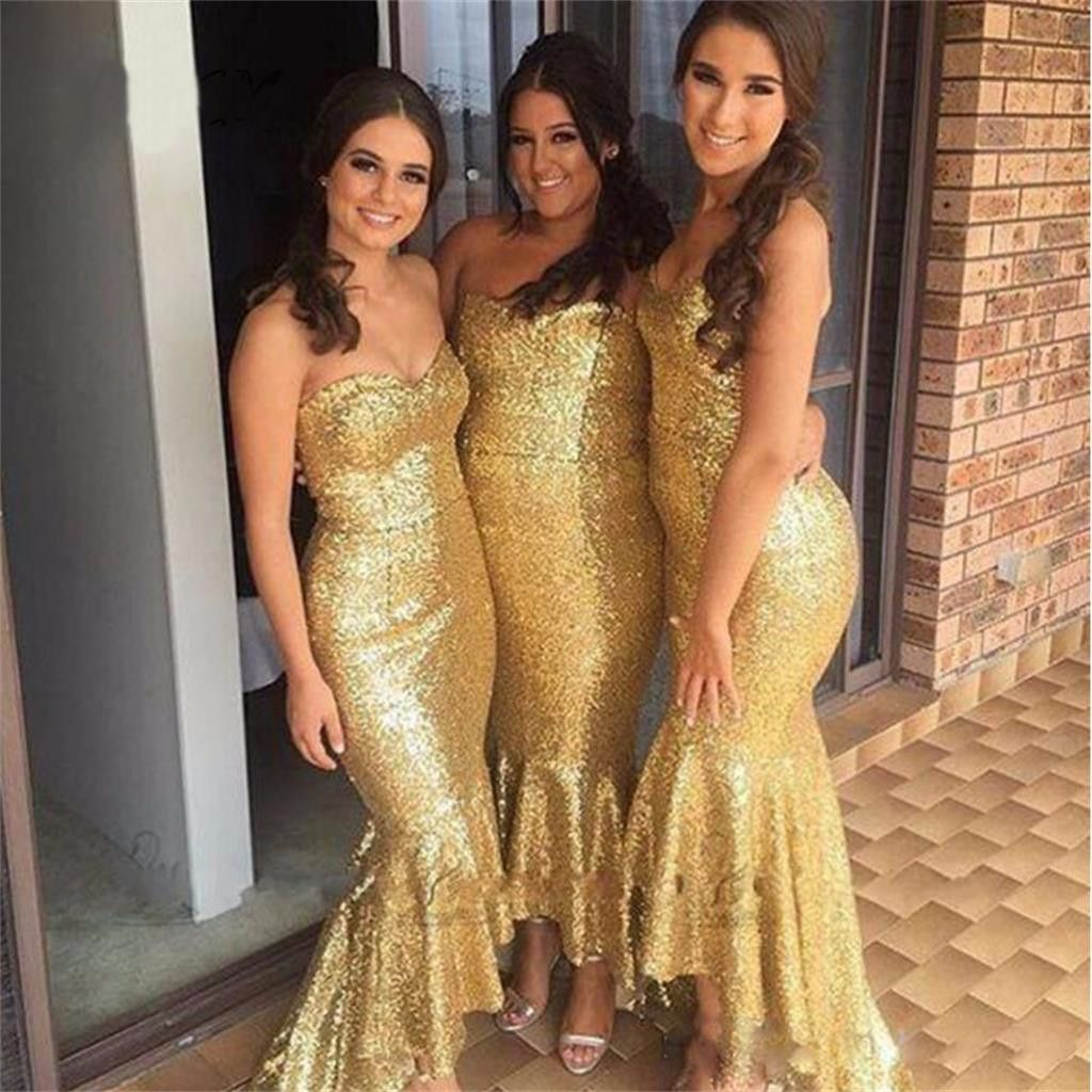 Long yellow sequin sparkly mermaid sweetheart free custom cheap long yellow sequin sparkly mermaid sweetheart free custom cheap bridesmaid dresses pd0252 ombrellifo Images