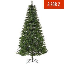 Collection Northstar 8ft Mixed Christmas Tree Green Green Christmas Tree Tree Uk Bottle Brush Trees