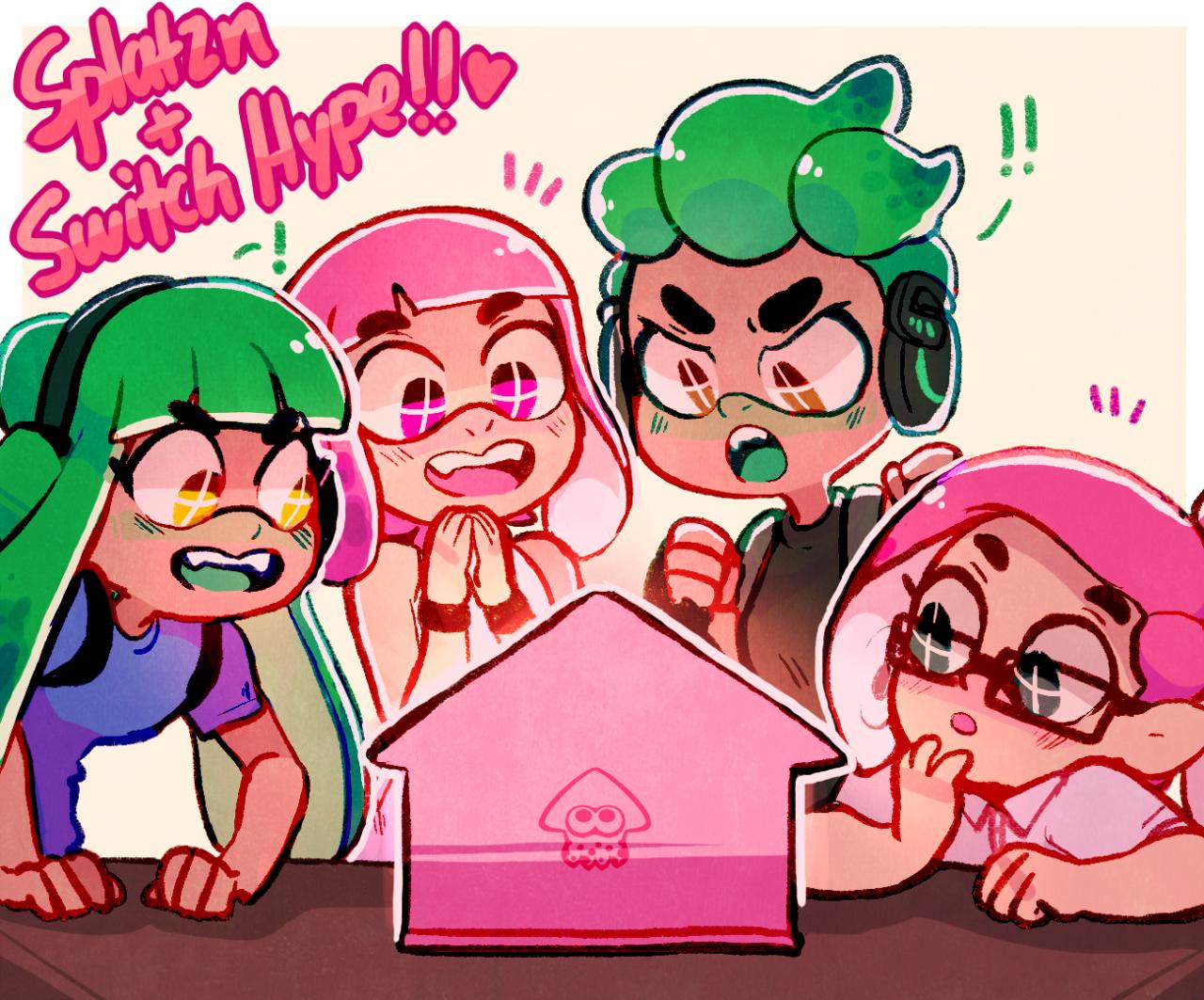4700+ followers! Splatoon squid, Game art, Anime
