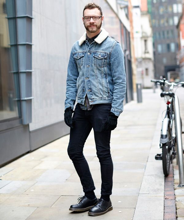 The Borg Collar Denim Jacket | Street Cats | Pinterest | The o ...