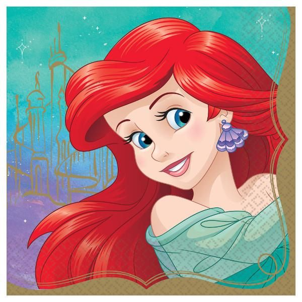 Once Upon A Time Ariel lunch napkins, 16 per package