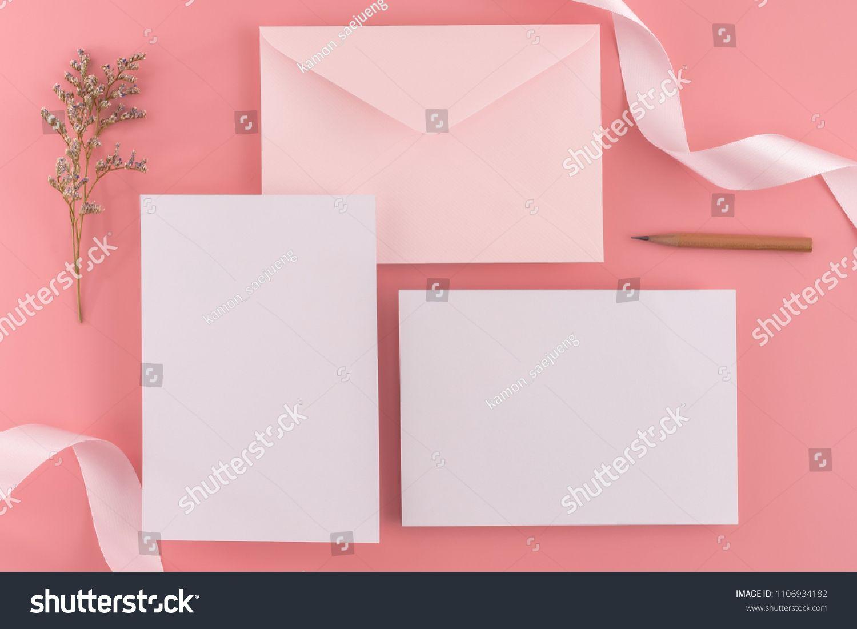 A Wedding Mock Up Concept Wedding Invitation Envelopes Cards