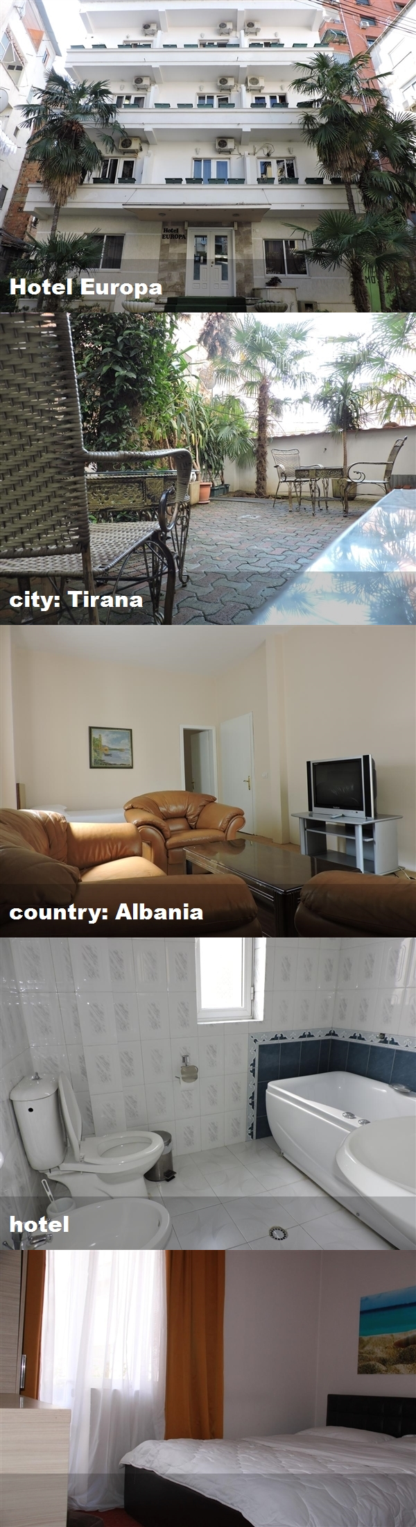 Hotel Europa City Tirana Country Albania Hotel Hotel Albania Tirana